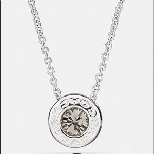 Open Circle Stone Strand Necklace